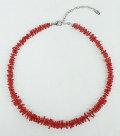 胡渡珊瑚 グラデーション ネックレス