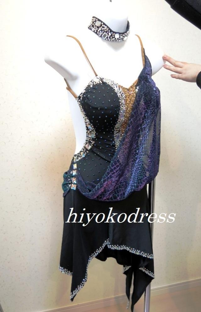 L1030 黒ラテンドレス