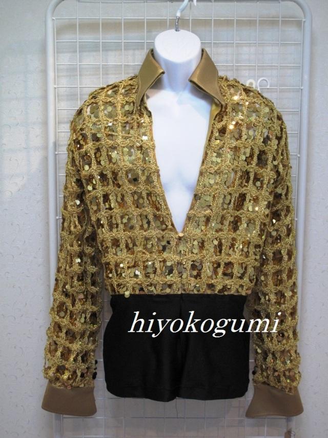 L857 メンズ ゴールドラテン衣装