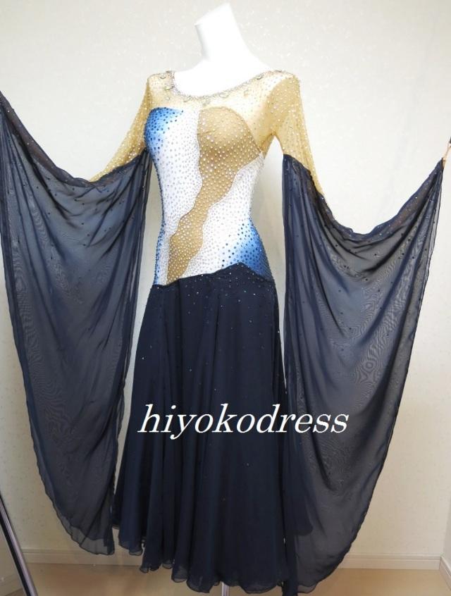 M1040 ヤナギダ製 紺色のスタンダードドレス