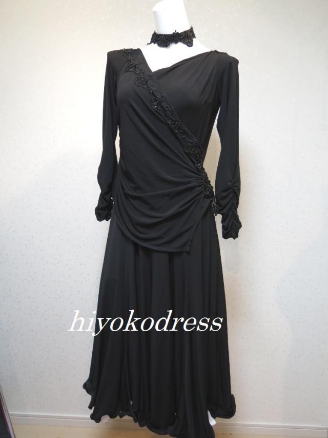 M1121 石なし 黒のスタンダードドレス