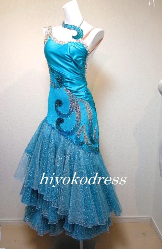 M1166 ターコイズブルーのスタンダードドレス