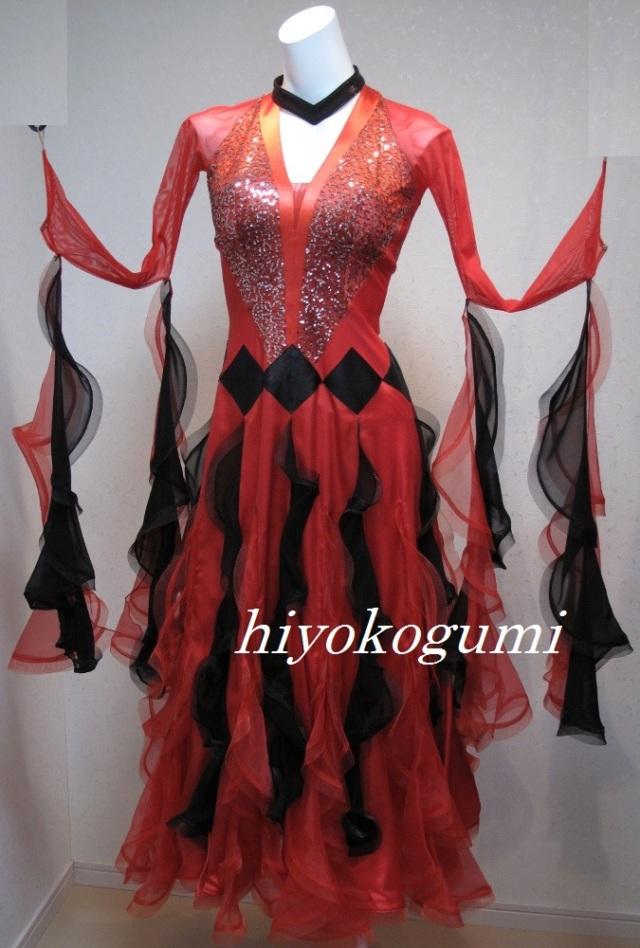 M899  お値下げ 赤黒 スタンダードドレス