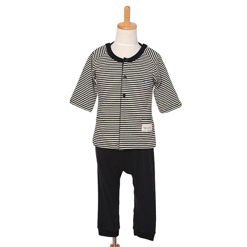 入院、点滴対応パジャマ。前開き&肩あき。障害児や医療的ケア児の介護服。