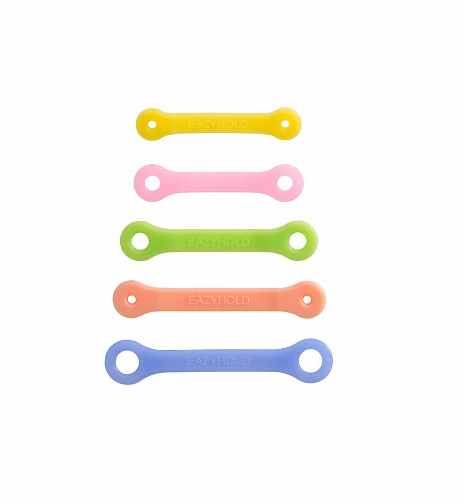 握りやつかみを支援する自助具、イージーホールド。肢体不自由、脳性麻痺、四肢欠損など、リハビリや療育にも。キッズ5本セット。