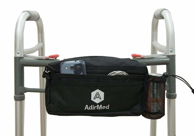 車いす、歩行器用ポーチ、バッグ。スタイリッシュ、スポーティー、かっこいいデザイン