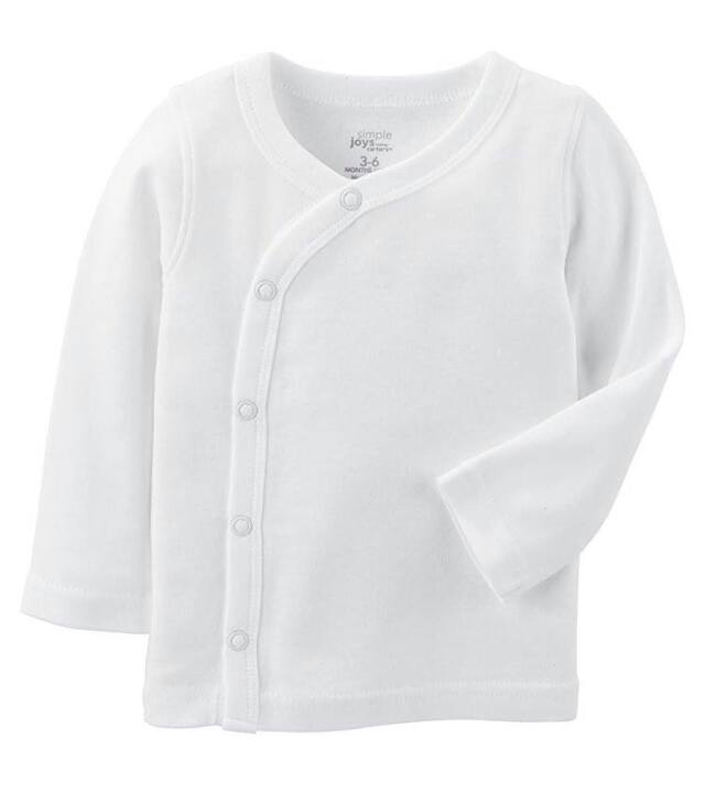 小さな赤ちゃんのための肌着。低出生体重児、未熟児ちゃん、NICUからの退院用に。短肌着、長袖、5枚セット。