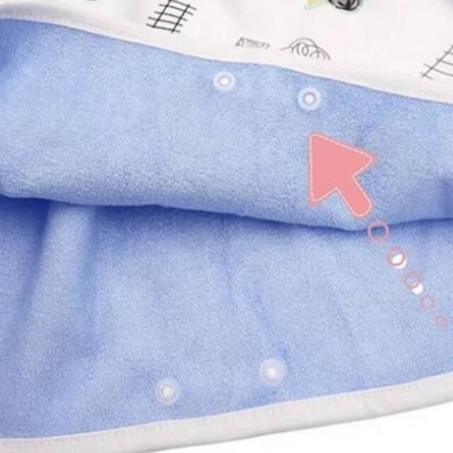 おねしょや漏れからお布団をカバーする、防水タオルスカート。介護用防水シート。スナップ