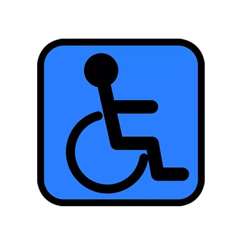 オシャレな車いすマーク。車椅子、身障者マーク。ステッカー。