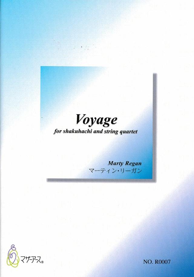 楽譜 Voyage─尺八と弦楽四重奏のための[5449-2]※尺八都山譜付