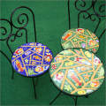 ガーデンテーブルセット(魚柄/緑・青)