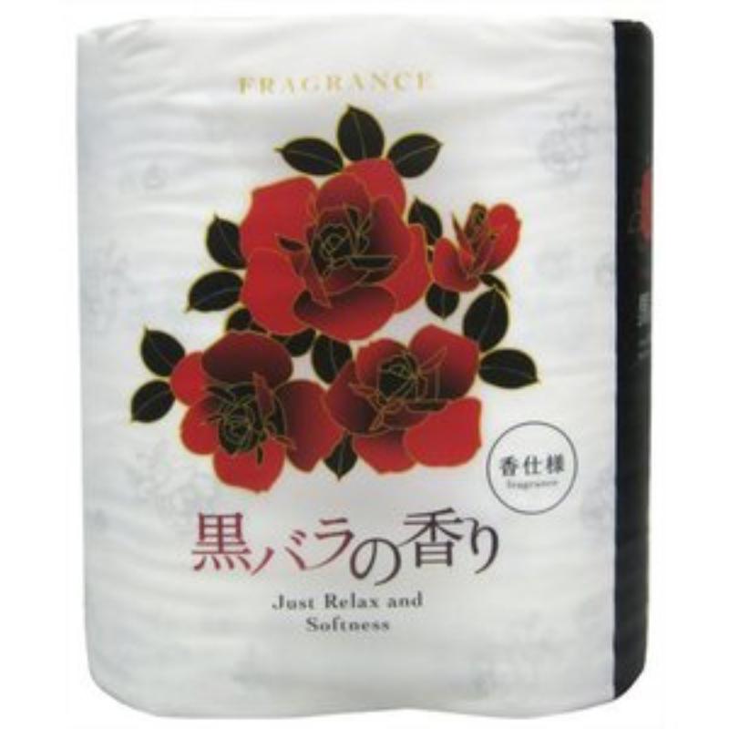 トイレットペーパー黒バラの香り