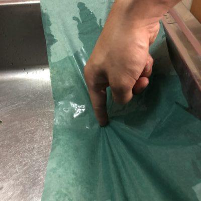 グリーンパーチ紙の耐水性です