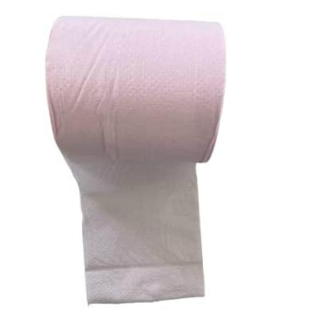 トイレットペーパーカラーピンクです