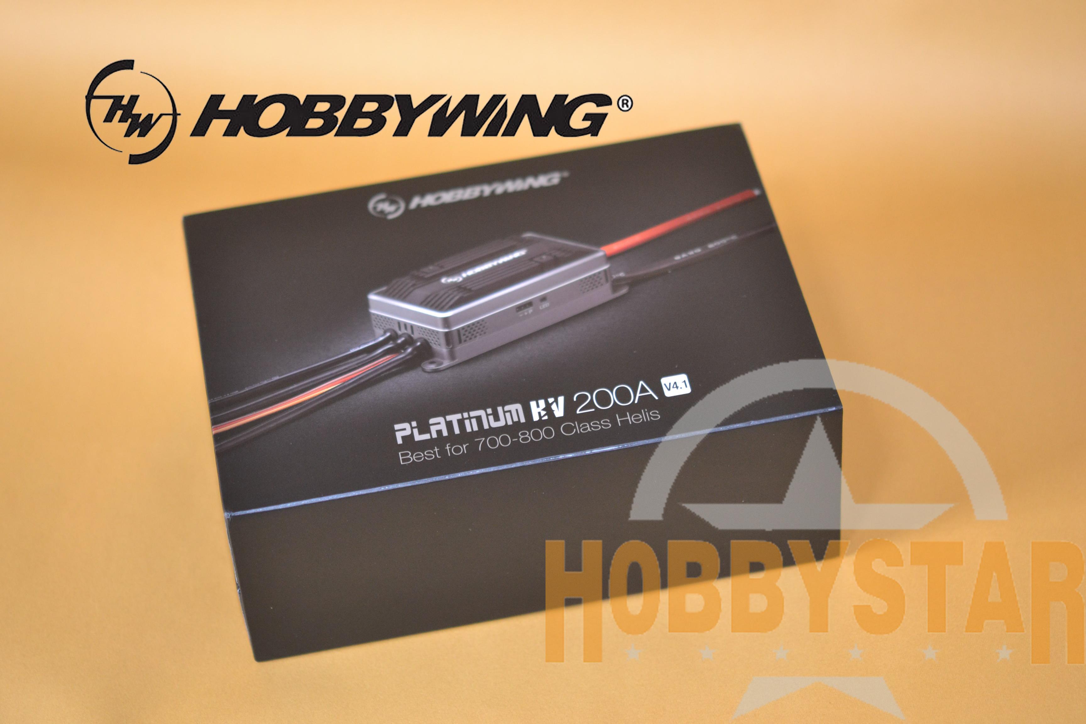 HOBBYWING製 PLATINUM 200A-HV V4.1 BEC内蔵 5V-8V/10A