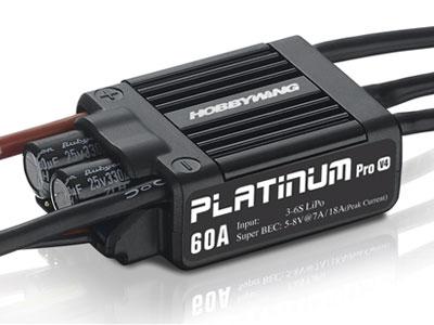 HOBBYWING製 PLATINUM 60A-V4 BEC内蔵 5V-8V/7A