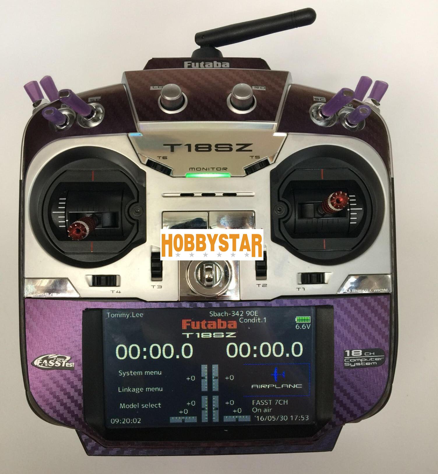 FUTABA 18SZ用 プロポスキン カーボン調 変色カメレオン ブルー⇒バイオレット (送料無料)