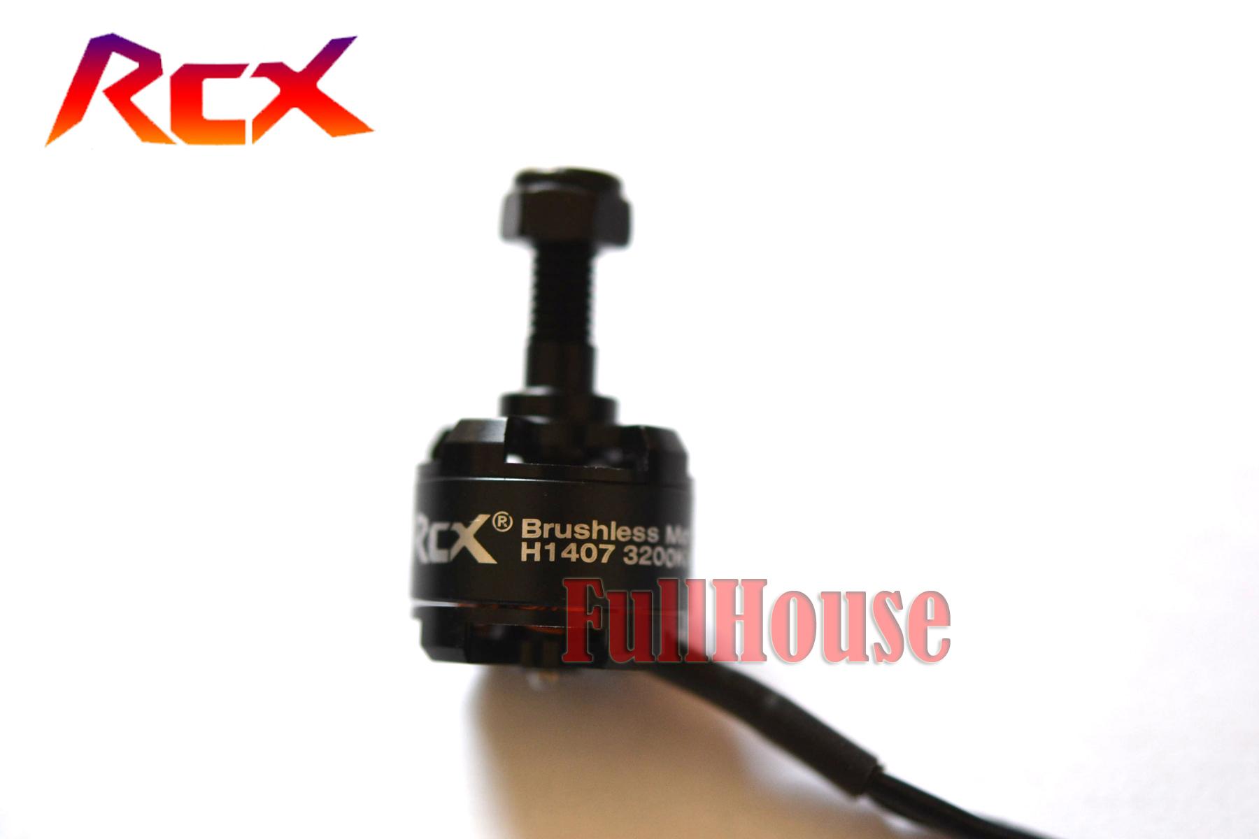 FPV ドローン用 ブラシレスモーター RCX 1407-3200KV 正ネジ 3~4S用