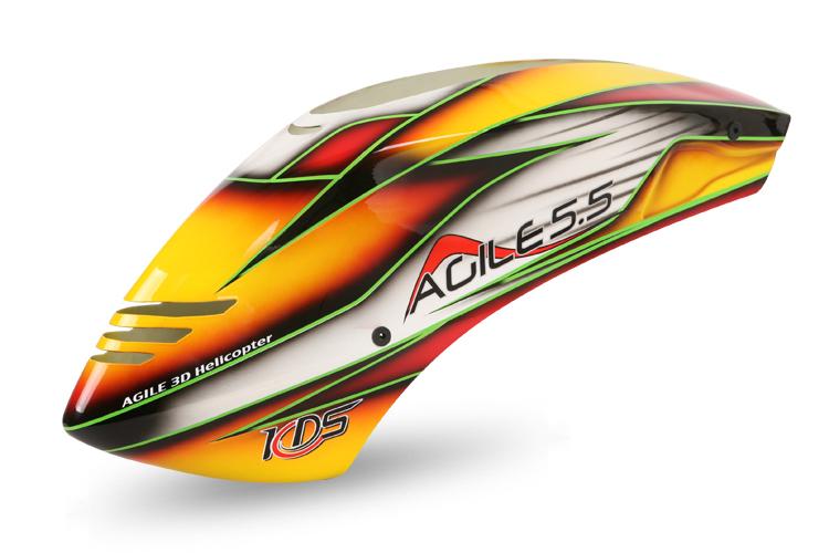 ZERO-AGILE55-03 AGILE5.5専用キャノピー 赤・黄・黒