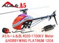 AGIEL A5 フレームキット&KDS BL4020-1100KVモーター&HOBBYWING PLATINUM 120Aアンプ セット