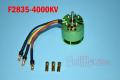 F2835-4000KV 450用ハイパワーブラシレスモーター 4000KV SV/C/SD/BD用