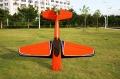 Sbach342  30CC 木製飛行機(オレンジ 黒 青)