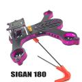 SIGAN 180 クアッドコプター カーボン フレームキット 半透明 パープル