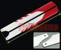 450サイズ用 メインローター グラスファイバー製 赤/白