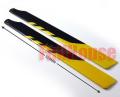 450サイズ用 メインローター グラスファイバー製 黄/黒