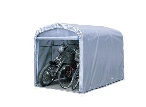 【法人様送料無料】小型パイプ倉庫「サイクルハウス3台用」 ※個人宅配送不可・お客様組立て(ベース付) W-130-2