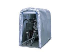【法人様送料無料】小型パイプ倉庫「サイクルハウス2台用」 ※個人宅配送不可・お客様組立て(ベース付) W-130-3
