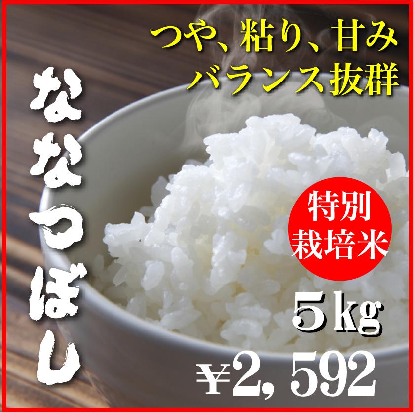 令和元年産特別栽培米ななつぼし5kg