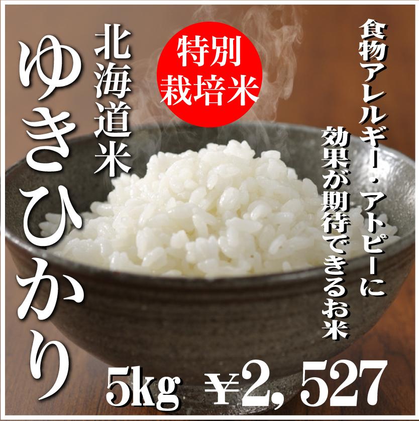 令和元年産特別栽培米ゆきひかり5kg