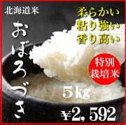 令和元年産特別栽培米おぼろづき5kg