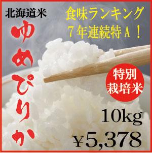 特別栽培米ゆめぴりか10kg 29年産