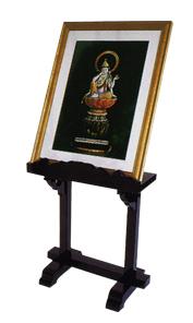 背高写真台 巾36cm高56cm 黒塗