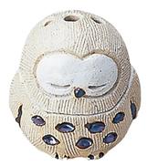 陶器香炉 蔵フクロウ
