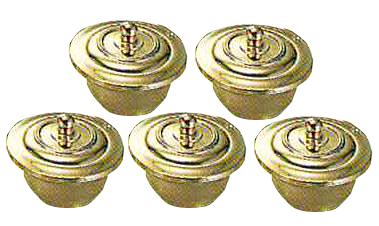 護摩器 五器碗・蓋 大型 真鍮製ミガキ 5ケ1組