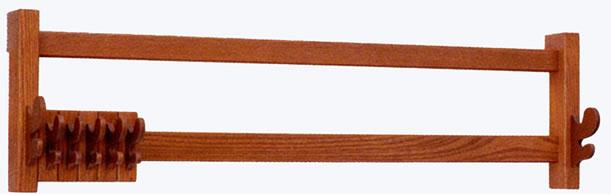 長押取付式小物掛 代用欅製