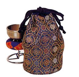 銀鈴用金襴袋 直径9cm×15cm