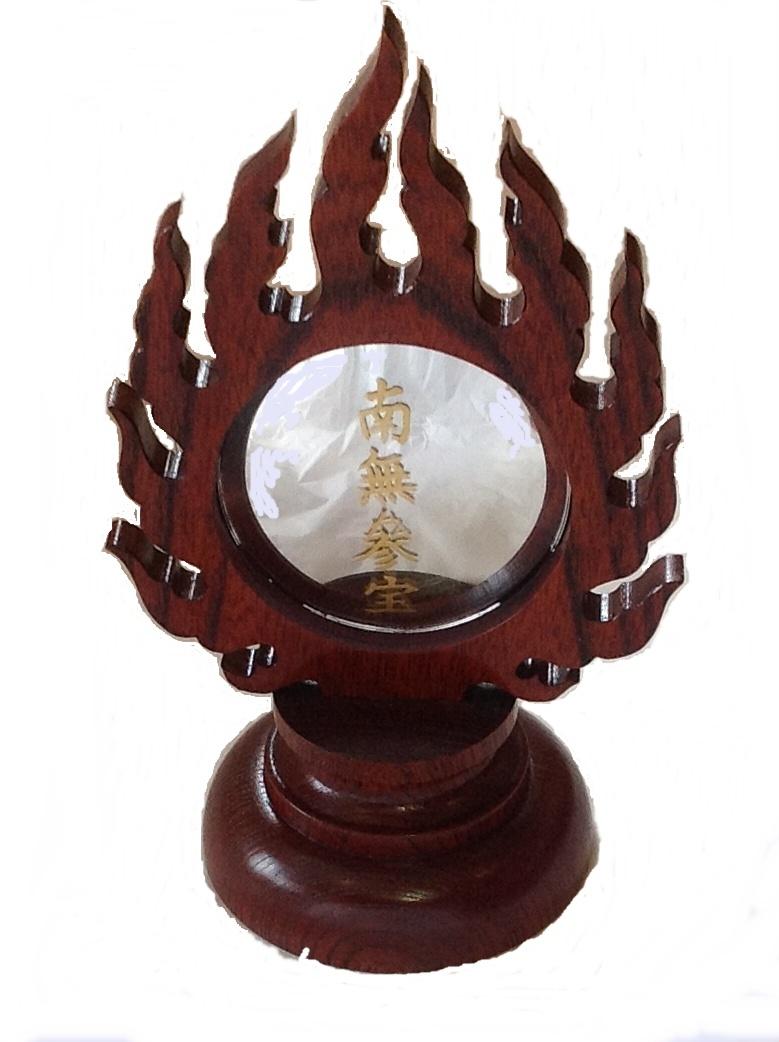 欅製宝珠ミラー