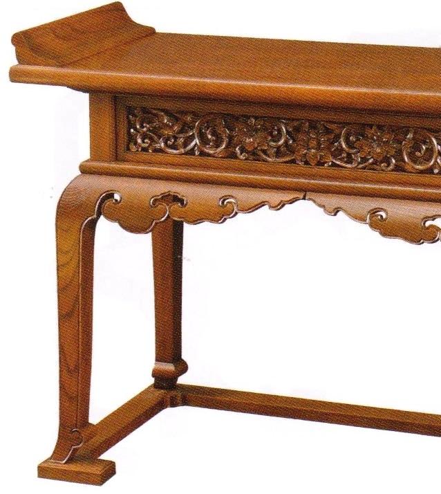 欅製椅子式導師机アップ