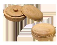欅製内蓋式香合 直径2.5寸(7.5cm)