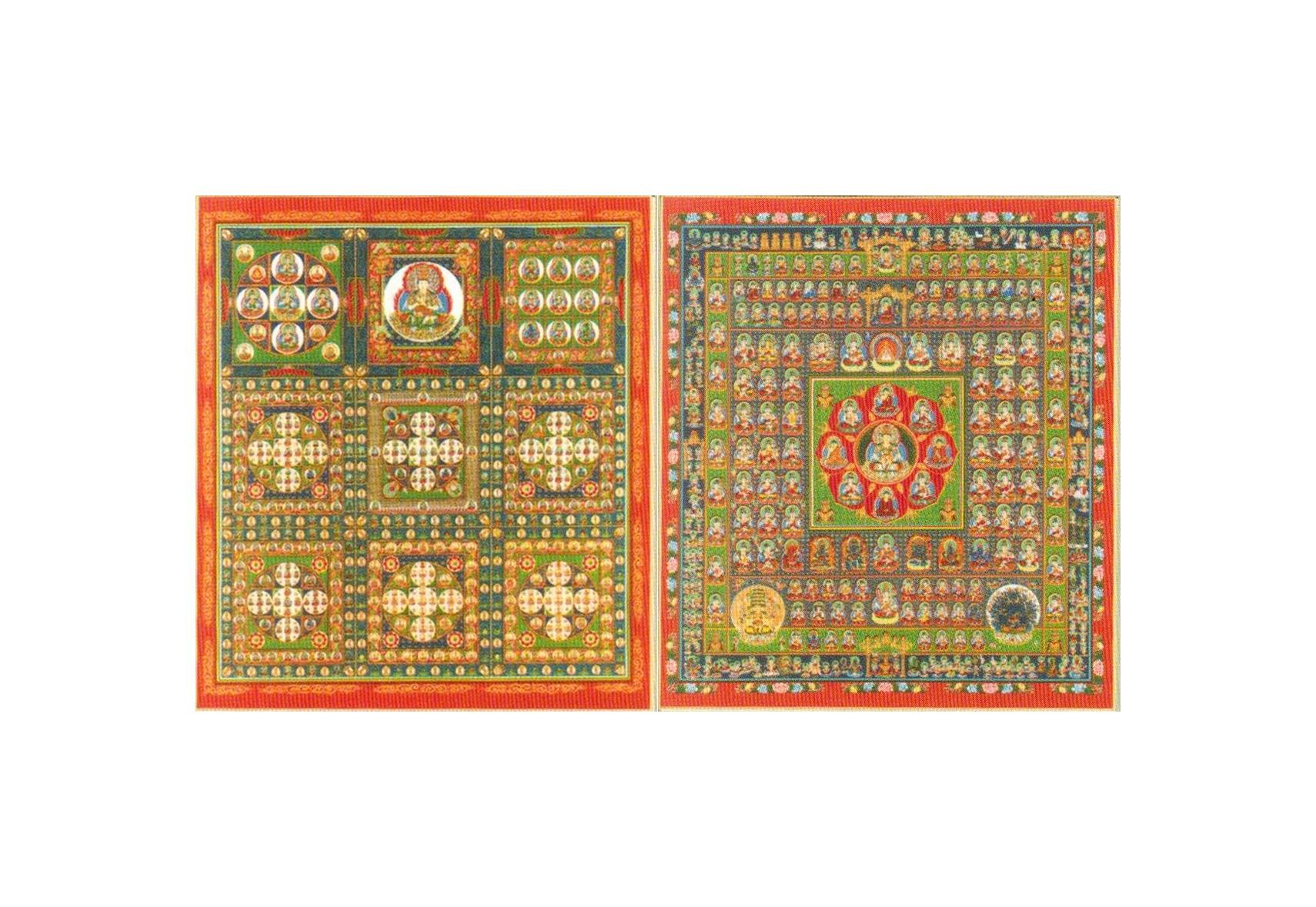 両界曼荼羅色紙