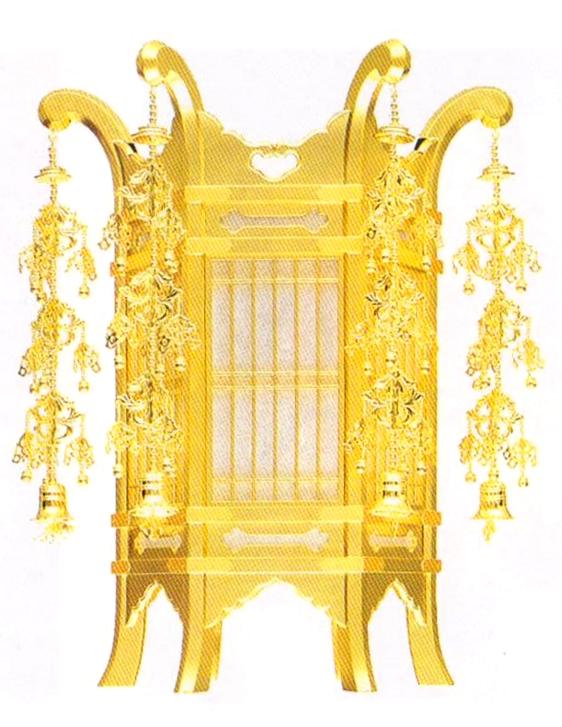 木製六角吊灯篭