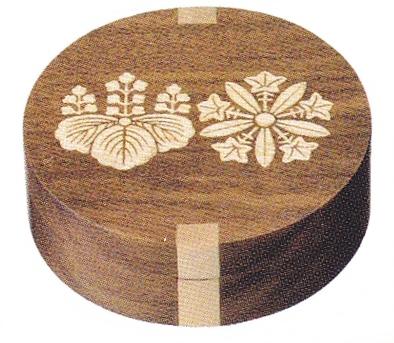 木造嵌 時計付 香合1