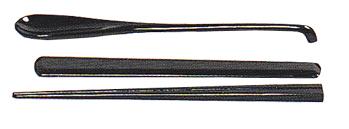 刷匙箸 1組 木製漆塗 黒