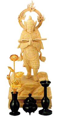 小仏像用三具足(常花付) 総高さ6寸(18cm)