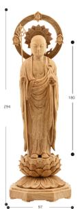 地蔵菩薩 立像 身丈6寸 楠製 北山謙信作 2009年