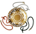 華籠(花皿) 金メッキ 8寸(24cm) 人絹紐代込